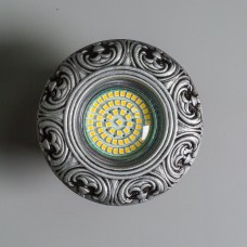 Гипсовый светильник SvDecor SV 7184 ASL серебро ф96 мм