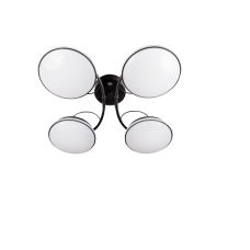 DECO M480 4x16w OP IRC BK Люстра светодиодная четырех рожковая с ПДУ450*450*180мм;300-5120Лм(диммируемый),Цвет: BK 2800-6000K (изменяемая)