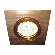 Светильник встраиваемый поворотный Светкомплект AT 20 G Ø82*82мм, в.о. 68мм