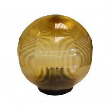 Плафон уличный Шар d350 мм ПММА Золото призма с гранями