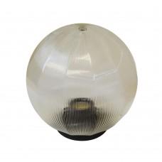 Плафон уличный Шар d200 мм ПММА Прозрачный призма с гранями