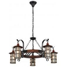 Светильник подвесной Velante 560-703-05 E27 40 Вт дуб, черный