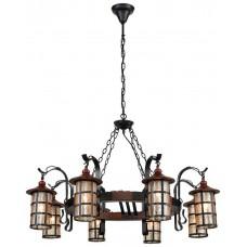 Светильник подвесной Velante 560-703-08 E27 40 Вт дуб, черный
