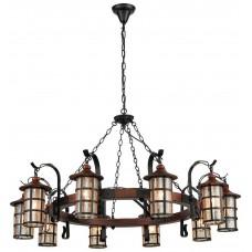 Светильник подвесной Velante 560-703-10 E27 40 Вт дуб, черный