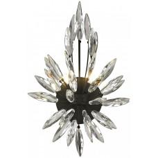 Бра хрустальное Wertmark WE118.02.021 Florentina G4 10 Вт черный, прозрачный