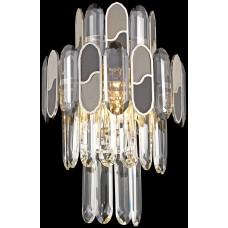 Бра хрустальное Wertmark WE132.03.301 Cordelia E14 40 Вт золото, серый, черный, прозрачный