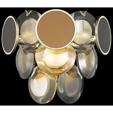 Настенный светильник Wertmark WE141.02.301 Oriella E14 40 Вт белое золото, прозрачный, янтарный, разноцветный