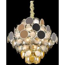 Подвесная люстра Wertmark WE141.17.303 Oriella E14 40 Вт белое золото, прозрачный, янтарный, разноцветный