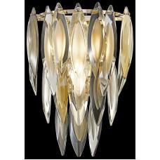 Бра хрустальное Wertmark WE144.03.301 Orlanda E14 40 Вт белое золото, прозрачный, дымчатый, янтарный