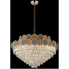 Хрустальная люстра Wertmark WE145.21.303 Oriana E14 40 Вт золото, коричневый, бежевый, прозрачный