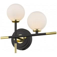 Бра Wertmark WE238.02.321 Brando G4 LED 10 Вт черный, золото