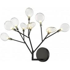 Бра Wertmark WE241.09.021 Fiorita G4 LED 5 Вт черный, прозрачный