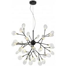 Подвесная люстра Wertmark WE241.36.023 Fiorita G4 LED 54 Вт черный, прозрачный