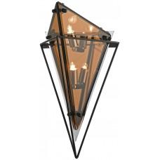 Настенный светильник Wertmark WE244.05.001 Rombo G9 LED 35 Вт черный, янтарный