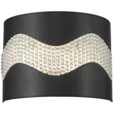 Настенный светильник Wertmark WE394.02.021 Adriana E14 40 Вт черный, хром