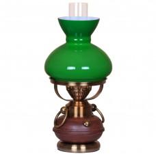 Настольная лампа Velante 321-584-01 бронза, зеленый
