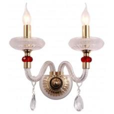 Бра Wertmark WE181.02.301 Ludmila золото, красный