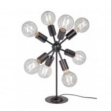 Настольная лампа лофт Vitaluce V4336-1/8L чёрный матовый