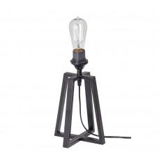 Настольная лампа лофт Vitaluce V4358-1/1L чёрный матовый
