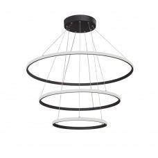 Люстра светодиодная Vitaluce V4614-1/3S LED 115Вт 3900-4200K черный матовый