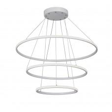 Люстра светодиодная Vitaluce V4614-0/3S LED 115Вт 3900-4200K белый матовый