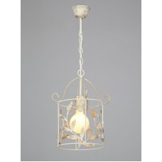 Подвесной светильник Vitaluce V1766/1S бежевый муар с золотом