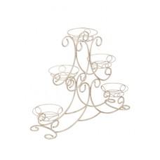 Стойка для цветов Vitaluce V7301/5 белый с золотом