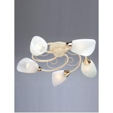Потолочная люстра Vitaluce V3663/5PL бежевый с золотом