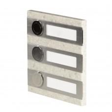 Кнопка звонка Zamel 3-я декоративная прямоугольная PDK 250/3