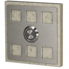 Кнопка звонка Zamel декоративная квадратная PDK 251 скрытой установки